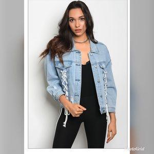 Jackets & Blazers - light  denim jacket distress